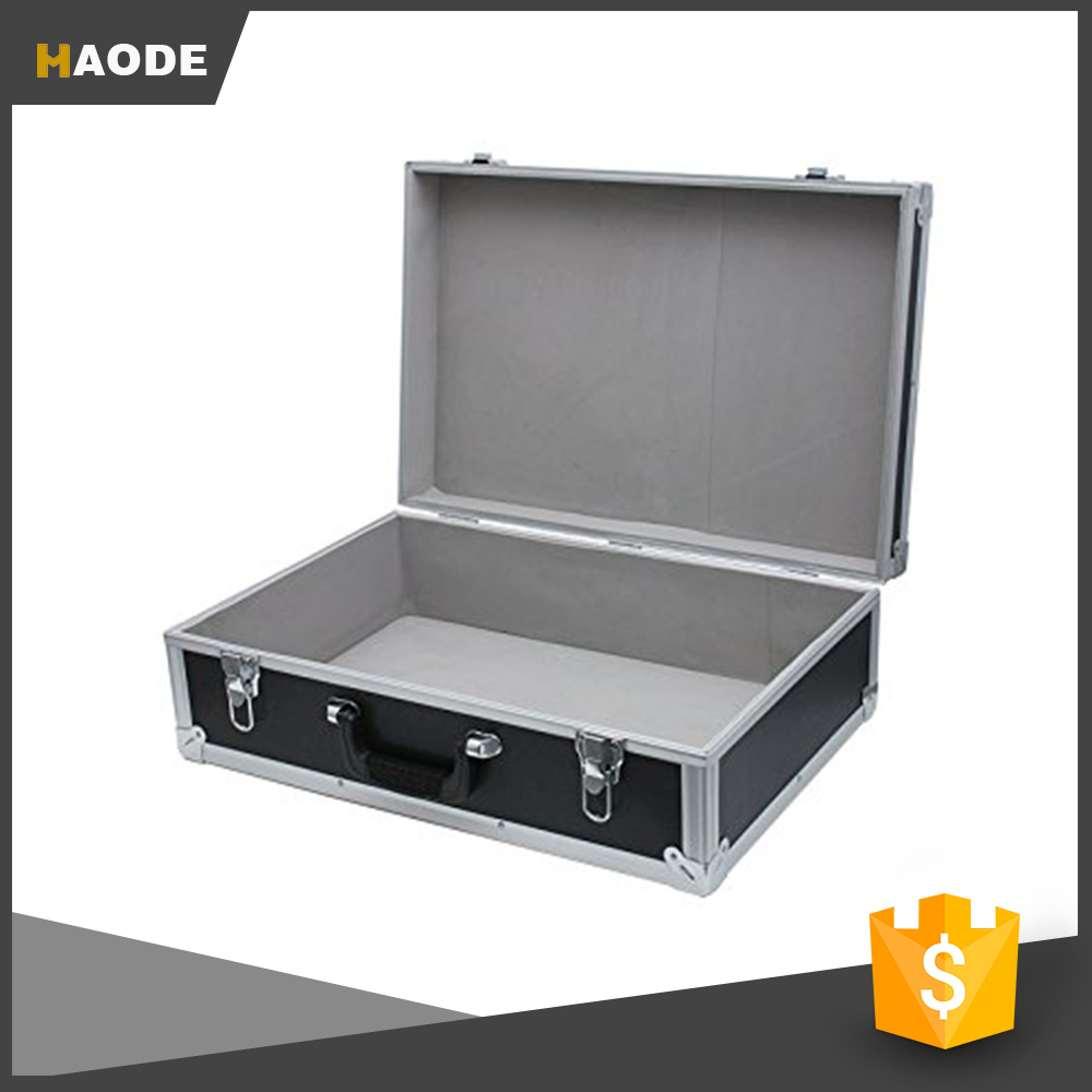 Black Aluminum Hard Tool Case Box