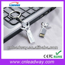 New gadget gift u disk in cupid shape with usb2.0 free logo printing