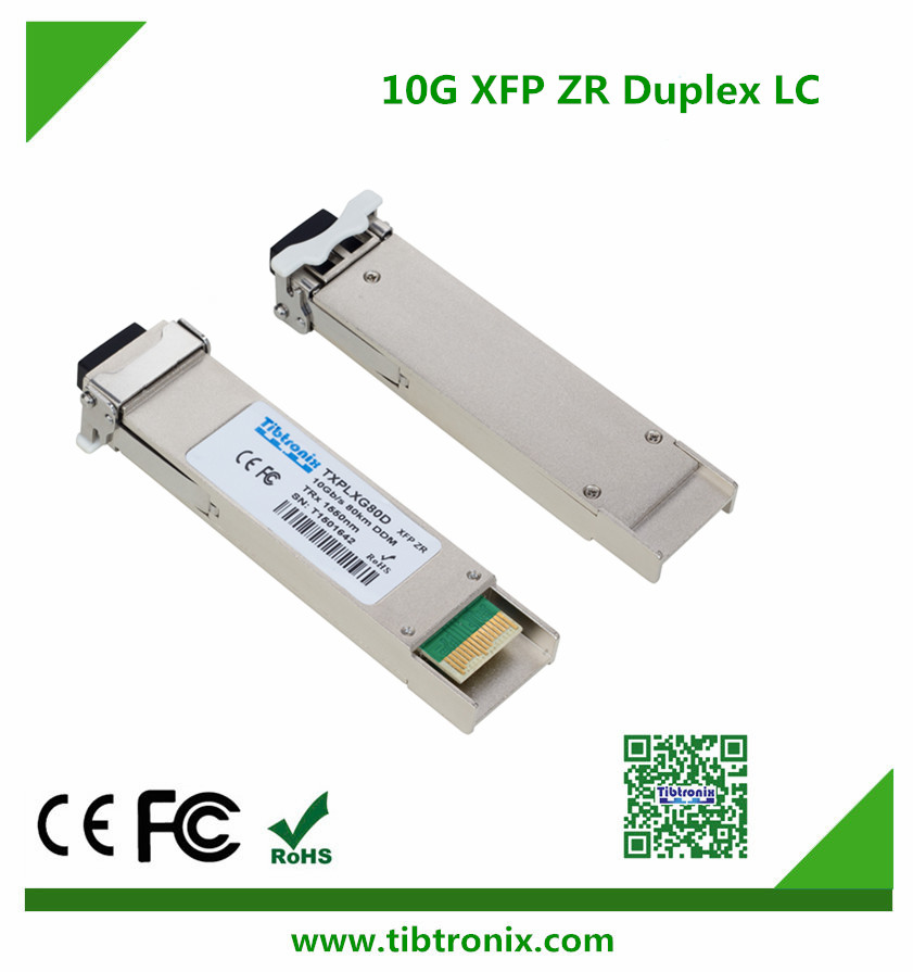 10Gb/s 80km XFP Transceiver Hot Pluggable, Duplex LC, 1550nm, EML&APD, Single mode