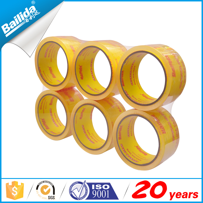 Yiwu factory custom logo crystal clear opp packing tape for box