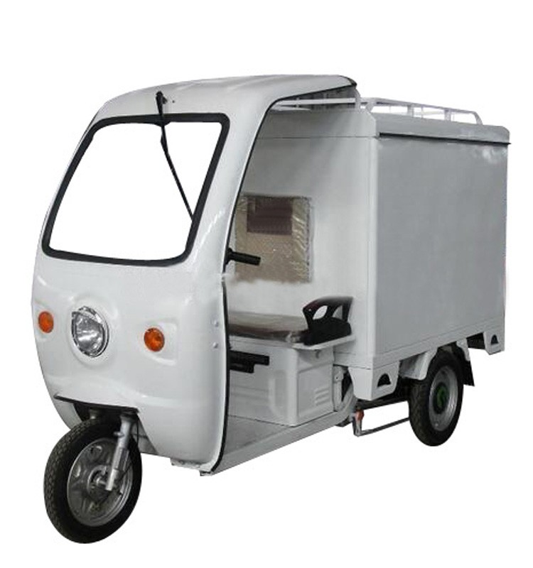 800W 1000W electric tricycle with closed body