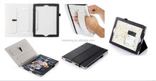 Hot selling PU leather case for ipad mini 2 with handstrap and pen stylus