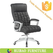 Executive Office Chair Tilt Swivel High Back Computer Desk Task Black PU Leather