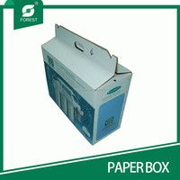 HOME APPLIANCE HOT USE CORRUGATED PAPER BOX FOR PACKING KITCHEN WARES WITH PLASTIC HANDLES