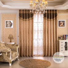 European style living room jacquard window drapes and curtains luxury