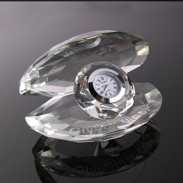 Wholesale crystal plaque desk clocks pen holder wedding gift wall clock favor crystal clock