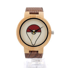 Wholesale Top Quality Pokemon GO Watches Fashion Wood Watches