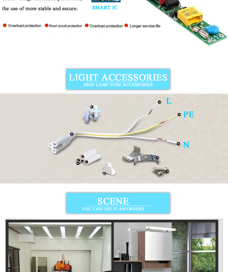 High brightness UL DLC Listed 1200mm t8 led tube