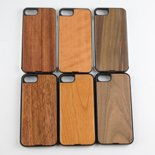 Classic blank metal phone case 2017, wood and metal mobile phone accessory for IPhone 7