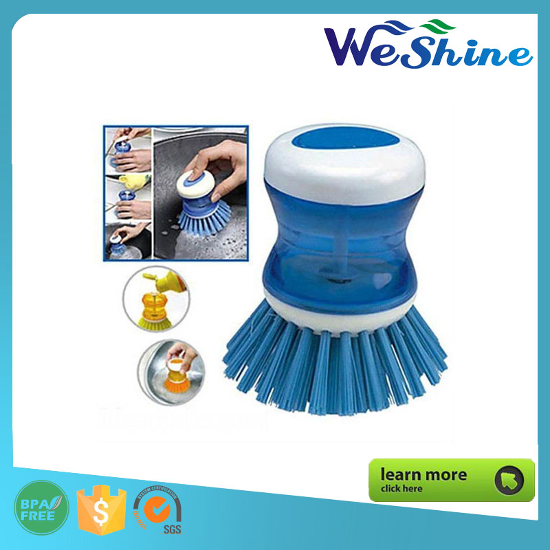 Automatic Add Clean Liquid Washing Tool brush Kitchen Tool Cleaning Wash Pot Pan Dish Bowl Palm Brush Scrubber Cleaner