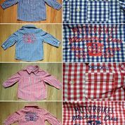 Childrens checker shirts with embroidery