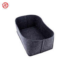 Customized grey fashion felt pet bed house for cat and dog