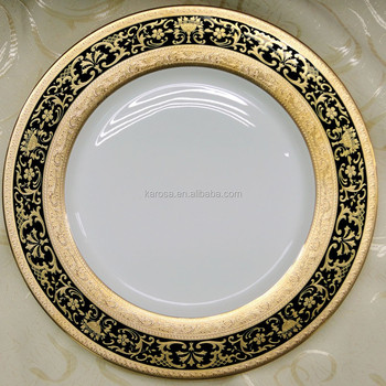 Classical and elegant design of embossed gold bone china dinnerware & Classical and elegant design of embossed gold bone china dinnerware ...