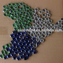 decorative coloured glass pebbles artificial clear glass stone Irregular Glass Pebbles For Swimming Pool