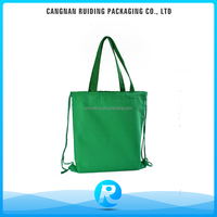 Green Color Drawstring Bags Made by 100% Cotton Fabric