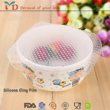 Food Grade Durable Silicone Food Wrap Silicone Preservative Cling Film