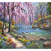Canvas Oil Painting Trees And Stones By The Creek Hand Painting Paint By Number Kits Oil Painting On Canvas Art Wall