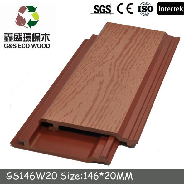 For outdoor wall water resistance wood grain wpc wall panel