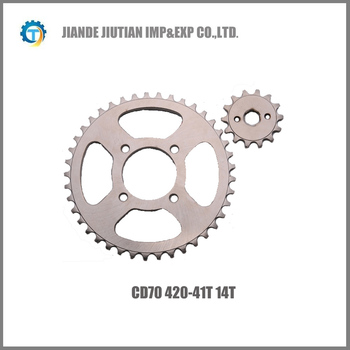 CD70 420-41T/14T Pakistan market motorcycle sprocket colorful design