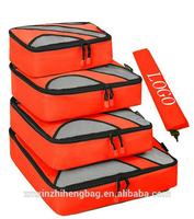 4 pcs pictures of travel bag Travel Packing Cubes with Laundry Bag
