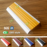 High Quality Aluminum Anti-slip Stair Nosing Trim with Yellow Pvc Insert