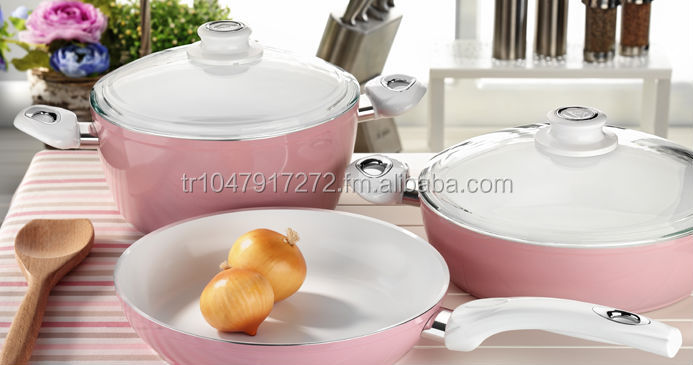 Zambak Line - Ceramic Cookware Set