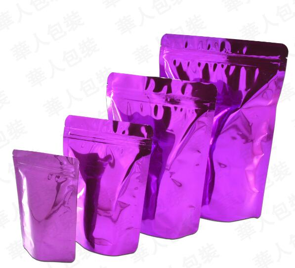 Stand Up Aluminum Foil Bag Customized Size Black Aluminum Foil Packaging Bag