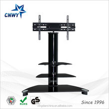 luxury tempered glass tv trolley stand design style General Use