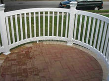 Easily Assembled Feature and Wood Type decorative garden fence