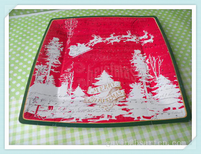Printed Disposable Paper Plate Paper Dish Whole Sale