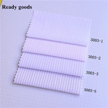 Ready goods, high density 40/60 yarn dyed stripe CVC fabric for school&office shirt