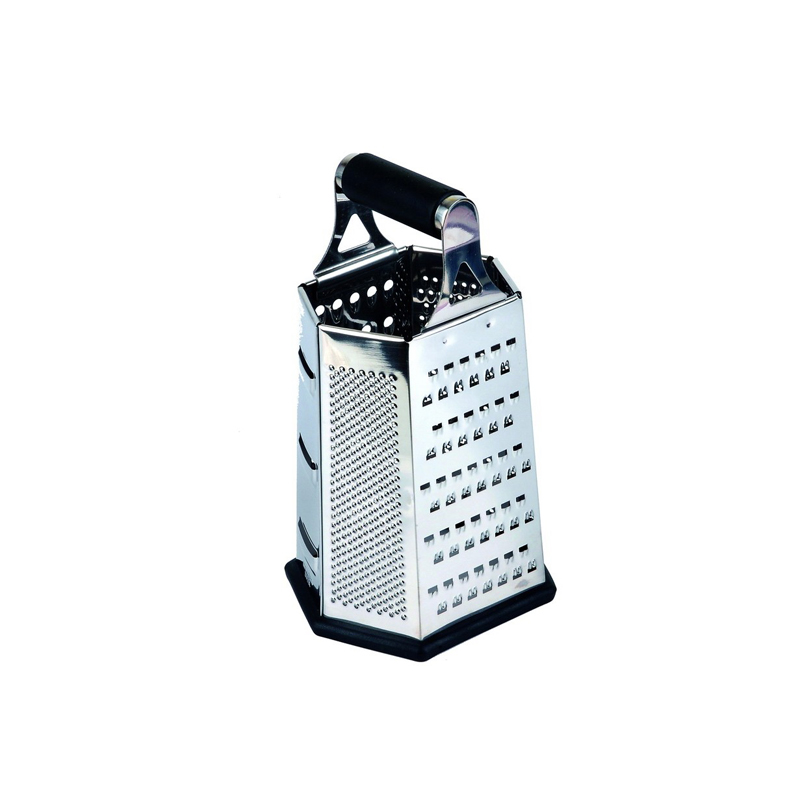 manual hexagonal grater with rubber handle