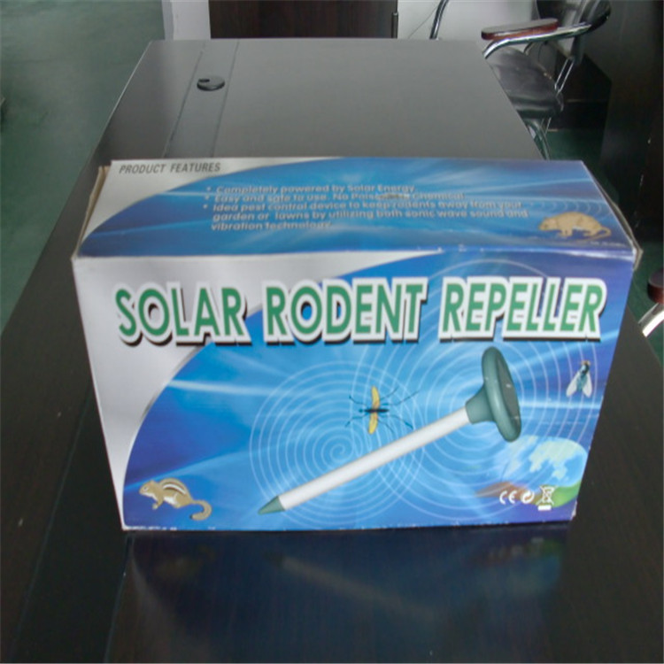 2016 fashion popular good quality solar ultrasonic mice mole repeller mice killer