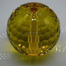 High quality faceted crystal glass ball for decoration with hole