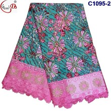 C1095-2 embroidery lace wax lace for women long dress