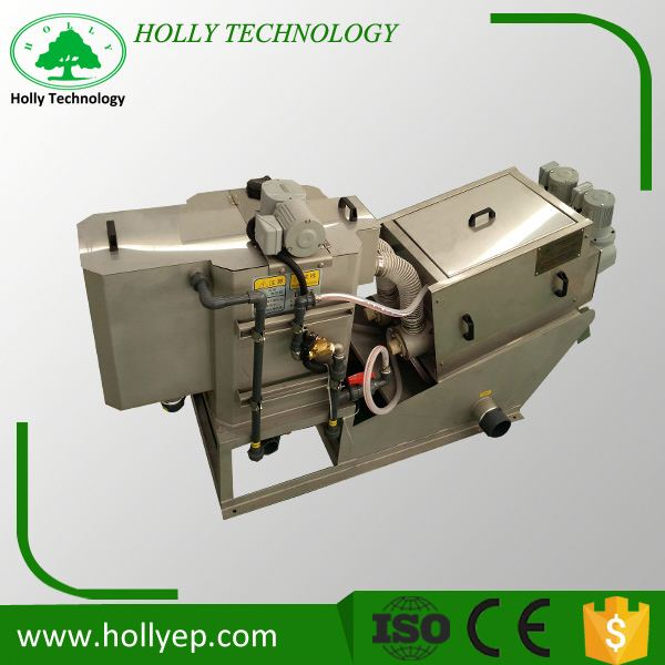 Self-clean dewatering screw press