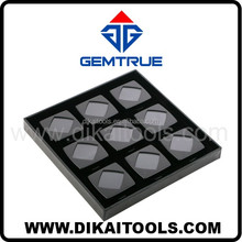 Loose diamond display tray, stylish deluxe display boxes in tray for gemstone display DK21670 GemTrue