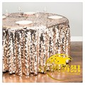 banquet Sequin overlay Round table cloth for wedding