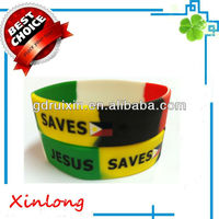 philipines flag silicone bracelets with segment colors