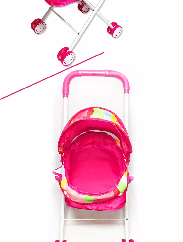 Wholesale baby doll pram stroller metal toy umbrella doll stroller
