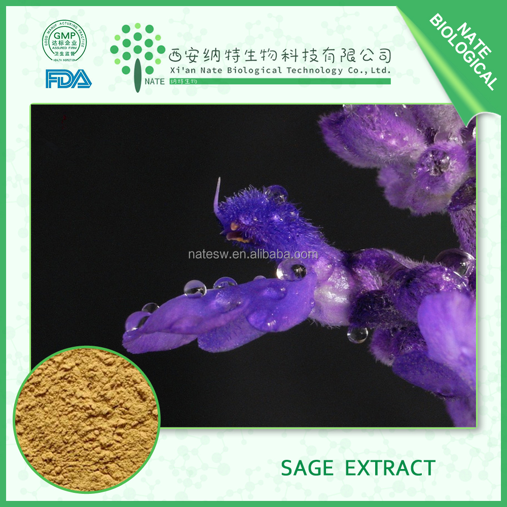 chinese supplier Herbal extract clary sage Extract 10:1 white sage powder and sage herb