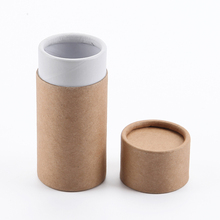 Custom Kraft Paper Color Round Tube Gift Box Packing Use