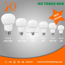 CFL replacement LED torch bulb factory low price 15 days delivery from 3w to 20w