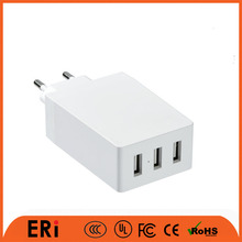 usb travel charger for samsung / 3 port wall charger