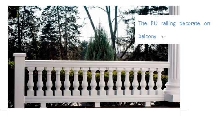 Durable PU Balustrade For Hand Railing