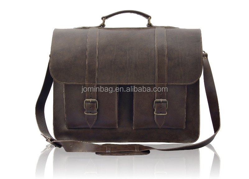 17 inch Leather Laptop Bag