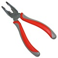 160mm Chrome plated steel plier with red handle