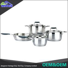 Alibaba china supplier stainless steel 7pcs cooks club cookware