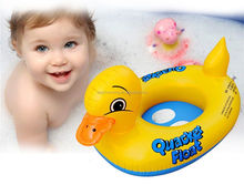 Baby Inflatable Yellow Duck Kids Swimming Pool Beach Outdoor Water Playing Seat Float Ring Duck Boat