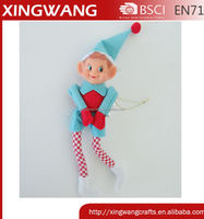 2016 Christmas decoration blue elf christmas figure stuffed toy elf decoration